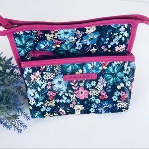4/$25 Tahari floral makeup bags
